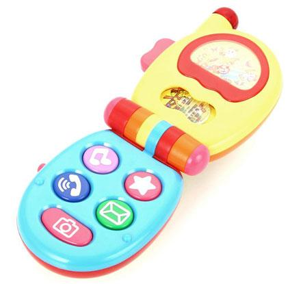Игровая панель в виде игрушечного телефона