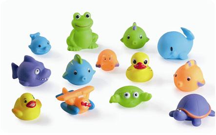 Игрушки-зверята для купания