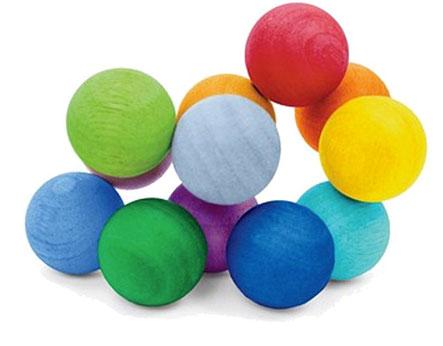 Мягкие разноцветные мячики - игрушки для маленьких детей