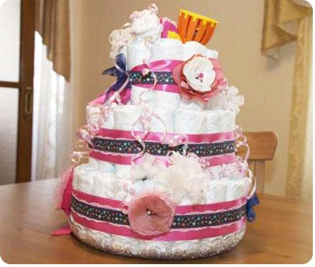 Торт сделанный из памперсов своими руками