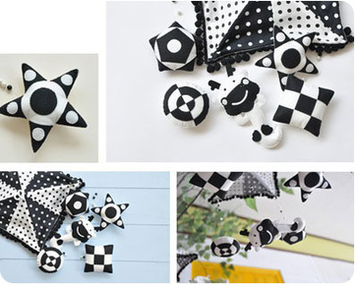 Черно - белые игрушки для развития ребенка