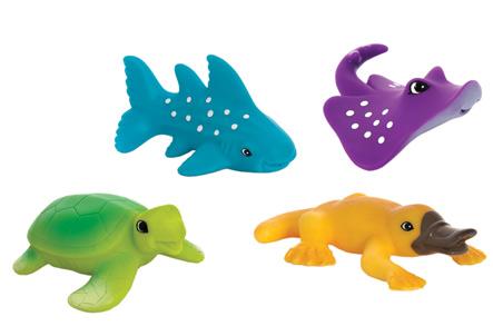 Резиновые игрушки для детей во время купания