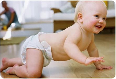 Ребенок 5 месяцев уже во всю ползает