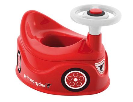 Красный горшок с рулем