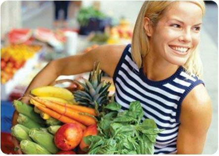 Покупка овощей в супермаркете