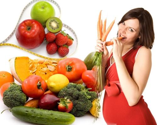 Беременным полезны фрукты и овощи
