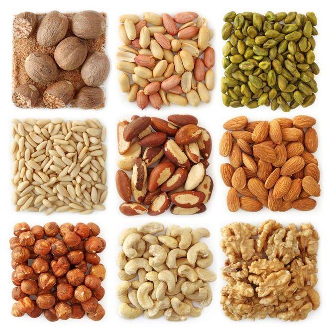 Кальций содержится в бобовых и орехах