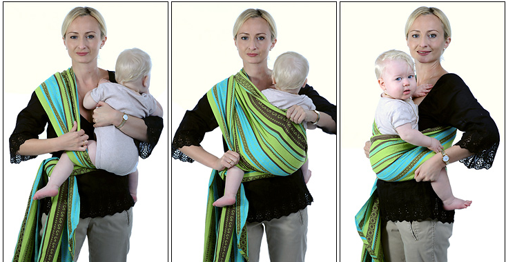 Расправьте полотнища креста по спинке ребенка