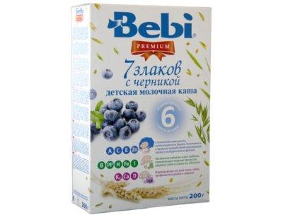 Bebi Каша Bebi Premium детская молочная 7 злаков с черникой