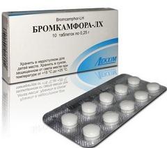 Бромкамфора — синтетический комбинированный препарат  Источник: http://www.neboleem.net/bromkamfora.php