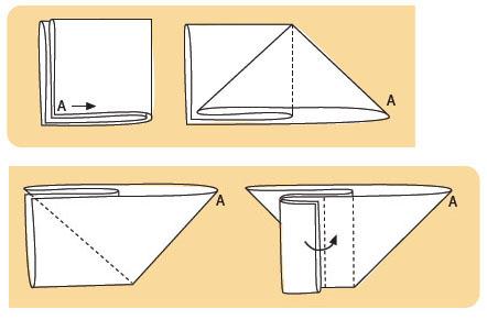 Как сложить марлевый подгузник