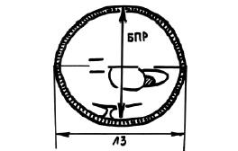Схема измерения бипариетального и лобно-затылочного размера