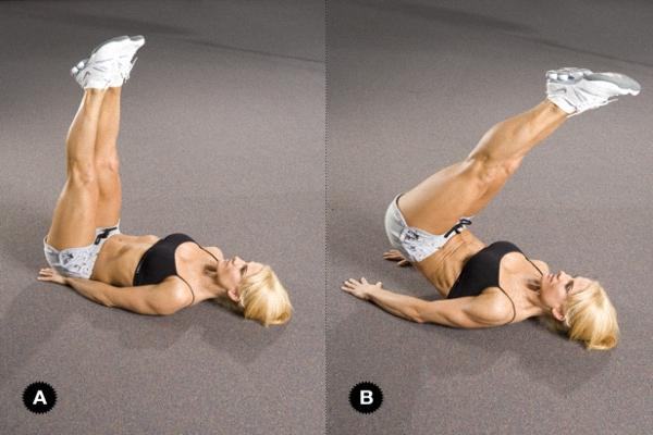 Упражнение на нижние мышцы пресса после кесарева