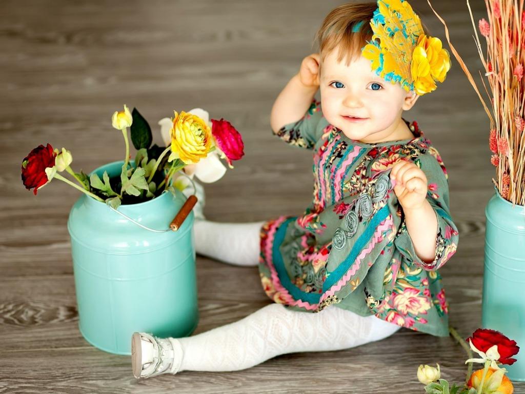 Фотосессия в подарок девочке 1 год