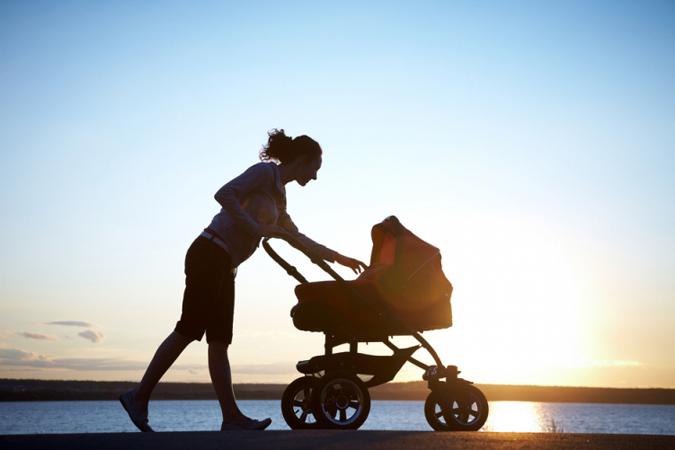 Эффективное упражнение - ходьба с коляской