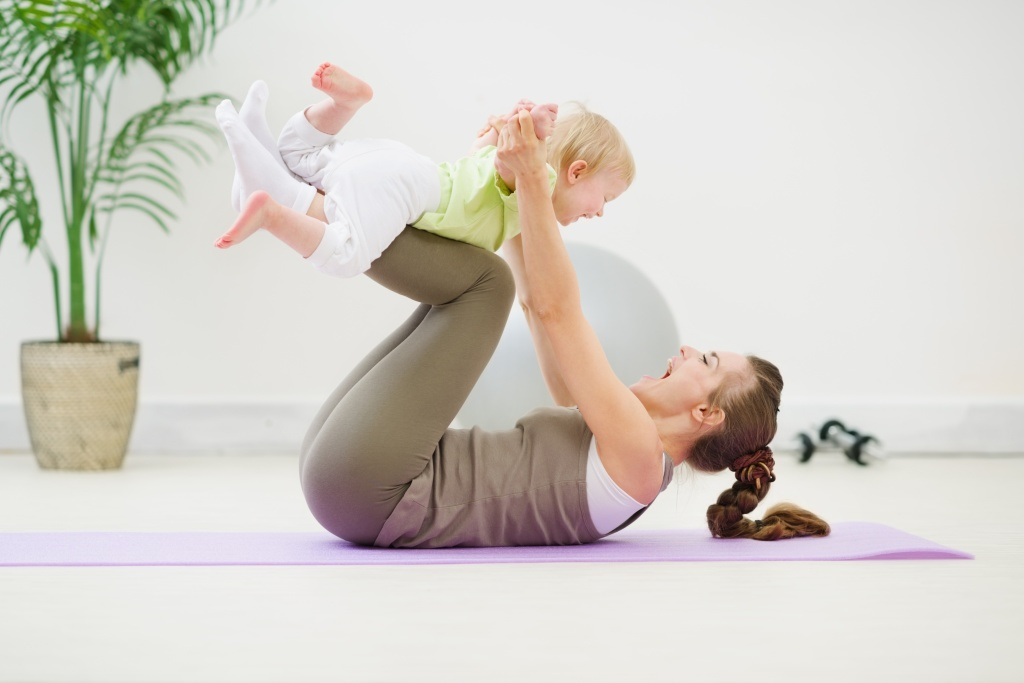 Упражнения после родов для быстрого похудения