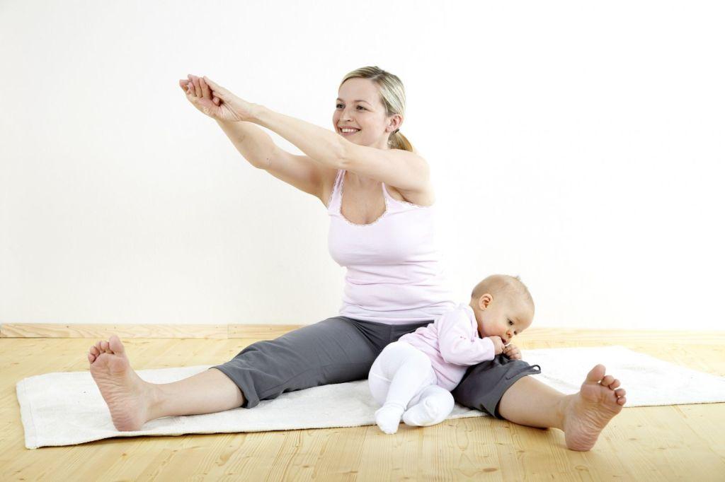 Занятия нужно начинать не ранее чем после 1,5 месяца после родов