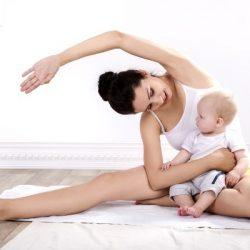 Упражнения после родов для похудения