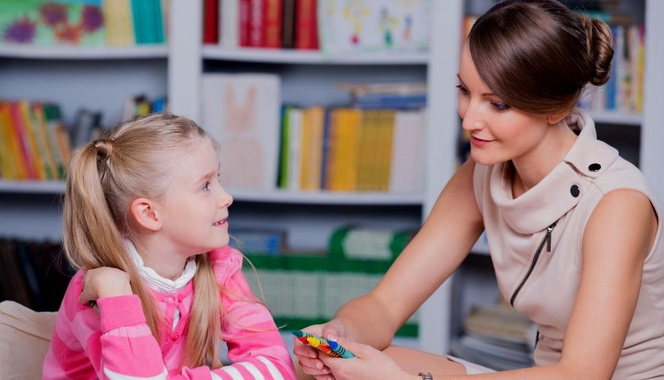 Разговор ребёнка с психологом