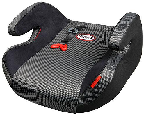 Серый бустер для перевозки ребёнка в машине