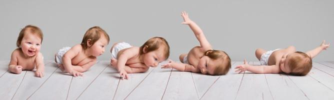 Малыш в 5 смен поз научился переворачиваться с живота на спину