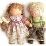 Вальдорфские куклы с волосами и одеждой