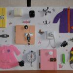 Бизиборд с элементами одежды
