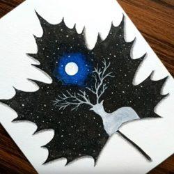 Прекрасное ночное небо — рисунок