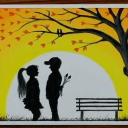 Детская дружба - рисунок
