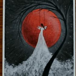 Фея в полнолуние - рисунок