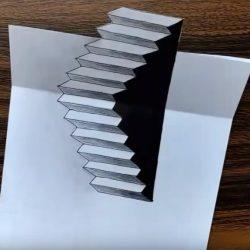 Как рисовать 3D лестницу вверх