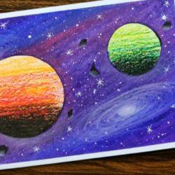 Новая галактика - рисунок