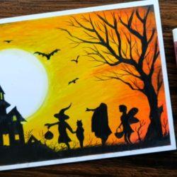 Праздник Halloween - рисунок