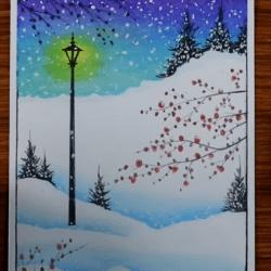 Рисунок — Зима, снег
