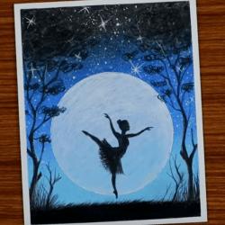 Рисунок — балерина в полнолуние