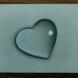 Сердце в виде капельки — рисунок