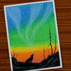 Северное сияние — рисунок