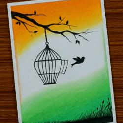 Свобода птички — рисунок