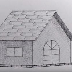 Учимся рисовать домик