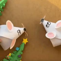Поделка — мышка. Видео инструкция