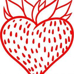 Как нарисовать сердечко-клубничку