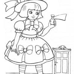 Алиса в стране чудес — раскраски