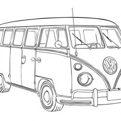Автобусы - раскраски