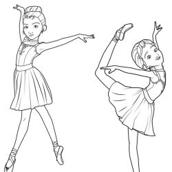 Балерина - раскраски