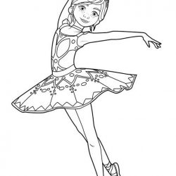 Балерина — раскраски