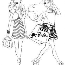 Барби - раскраски