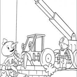 Боб-строитель раскраски