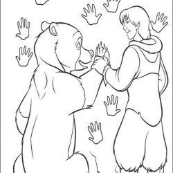 Братец медвежонок — раскраски