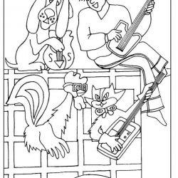 Бременские музыканты — раскраски