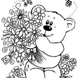 Букеты цветов — раскраски